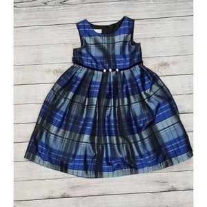 Pippa & Julie Formal Sleeveless Plaid Dress Size 7